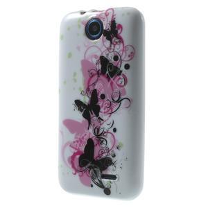 Gelové pouzdro na HTC Desire 310- motýl květ - 3