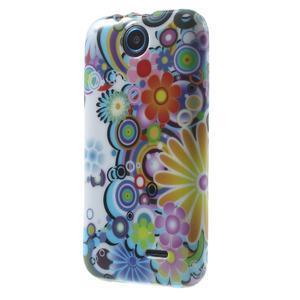 Gelové pouzdro na HTC Desire 310- barevné květy - 3