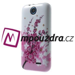 Gelové pouzdro na HTC Desire 310- kvetoucí větvička - 3