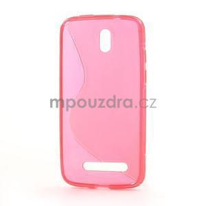 Gelové pouzdro pro HTC Desire 500- růžové - 3