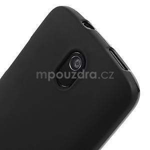 Gelové matné pouzdro pro HTC Desire 500- černé - 3