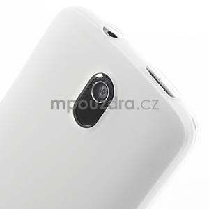 Gelové matné pouzdro pro HTC Desire 500- bílé - 3