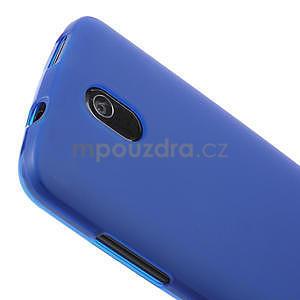 Gelové matné pouzdro pro HTC Desire 500- modré - 3