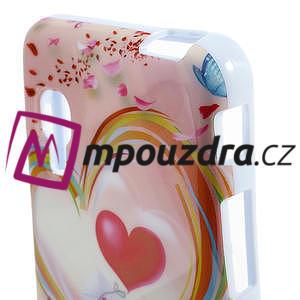 Gelová pouzdro pro LG Optimus L5 Dual E455- labutí srdce - 3