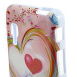 Gelová pouzdro pro LG Optimus L5 Dual E455- labutí srdce - 3/4