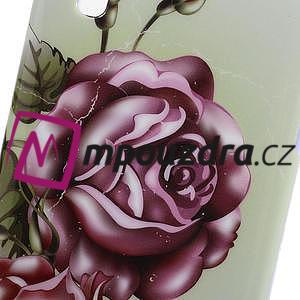Gelová pouzdro pro LG Optimus L5 Dual E455- Růže - 3