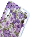 Gelová pouzdro pro LG Optimus L5 Dual E455- živé květy - 3/4