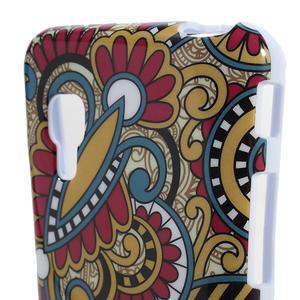Gelová pouzdro pro LG Optimus L5 Dual E455- kmenové květy - 3