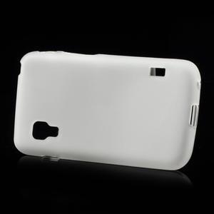 Matné gelové pouzdro pro LG Optimus L5 Dual E455- bílé - 3