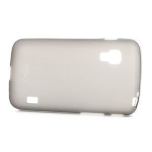 Matné gelové pouzdro pro LG Optimus L5 Dual E455- šedé - 3