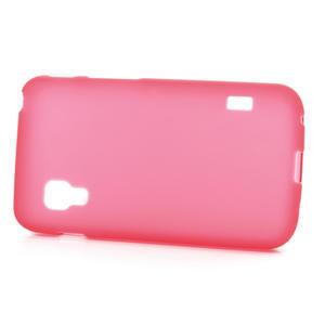 Matné gelové pouzdro pro LG Optimus L5 Dual E455- červené - 3