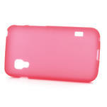 Matné gelové pouzdro pro LG Optimus L5 Dual E455- červené - 3/4
