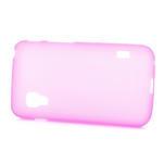 Matné gelové pouzdro pro LG Optimus L5 Dual E455- růžové - 3/4