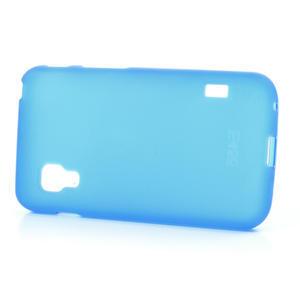 Matné gelové pouzdro pro LG Optimus L5 Dual E455- modré - 3