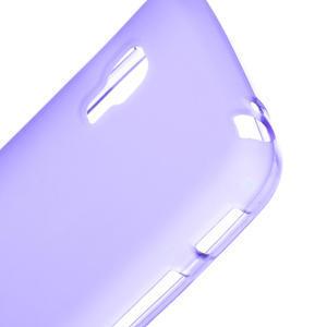 Matné gelové pouzdro pro LG Optimus L5 Dual E455-fialová - 3