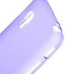 Matné gelové pouzdro pro LG Optimus L5 Dual E455-fialová - 3/4