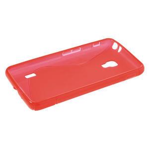 Gelové S-line pouzdro na LG Optimus F6 D505- červené - 3