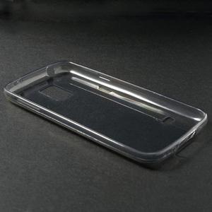 Gelové 0.6mm pouzdro na Samsung Galaxy S5 mini G-800- šedé - 3