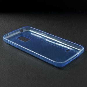 Gelové 0.6mm pouzdro na Samsung Galaxy S5 mini G-800- modré - 3