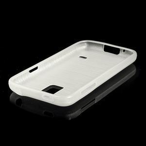 Kartáčové pouzdro na Samsung Galaxy S5 mini G-800- bílé - 3