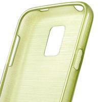 Kartáčové pouzdro na Samsung Galaxy S5 mini G-800- zelené - 3/4