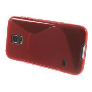 Gelové S-line pouzdro na Samsung Galaxy S5 mini G-800- červené - 3
