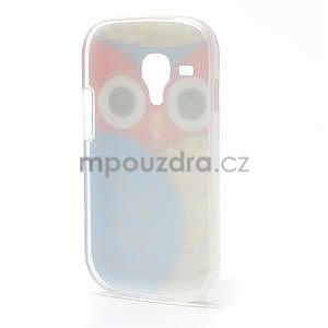 Gelové pouzdro pro Samsung Galaxy S3 mini / i8190 - modrá Sova - 3