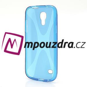 Gelové X pouzdro pro Samsung Galaxy S4 mini i9190- modré - 3