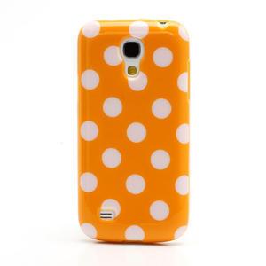 Gelový Puntík pro Samsung Galaxy S4 mini i9190- oranžové - 3