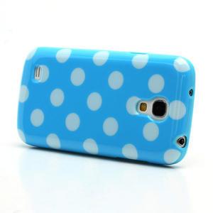 Gelový Puntík pro Samsung Galaxy S4 mini i9190- modrá - 3