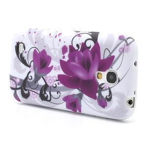 Gelové pouzdro pro Samsung Galaxy S4 mini i9190- fialové květy - 3