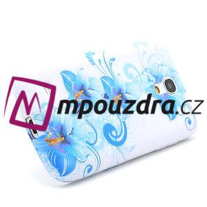 Gelové pouzdro pro Samsung Galaxy S4 mini i9190- modrá lilie - 3