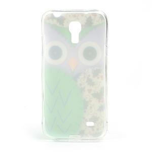 Gelové pouzdro na Samsung Galaxy S4 mini i9190- sova zelená - 3