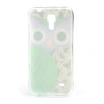 Gelové pouzdro na Samsung Galaxy S4 mini i9190- sova zelená - 3/5