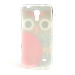 Gelové pouzdro na Samsung Galaxy S4 mini i9190- sova červená - 3/5