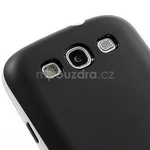 Gelové rámované pouzdro na Samsung Galaxy S3 i9300- černé - 3