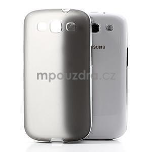 Gelové rámované pouzdro na Samsung Galaxy S3 i9300- šedé - 3