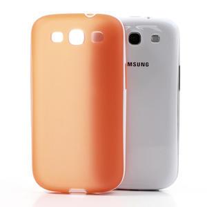 Gelové rámované pouzdro na Samsung Galaxy S3 i9300- oranžové - 3
