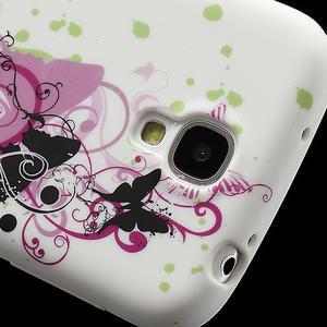 Gelové pouzdro pro Samsung Galaxy S4 i9500- vlající motýl - 3
