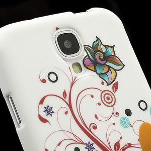 Gelové pouzdro pro Samsung Galaxy S4 i9500- barevná květina - 3