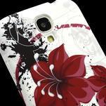Gelové pouzdro pro Samsung Galaxy S4 i9500- červený květ - 3/7