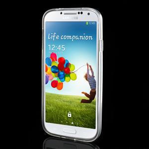 Gelové slim pouzdro na Samsung Galaxy S4 i9500- bílé - 3