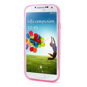 Gelové slim pouzdro na Samsung Galaxy S4 i9500- růžové - 3