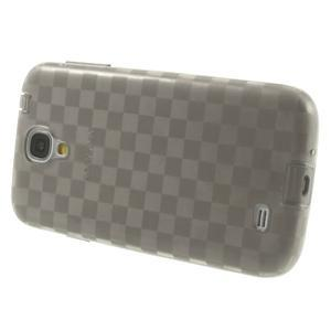 Gelové kosočvercové pouzdro na Samsung Galaxy S4 i9500- šedé - 3