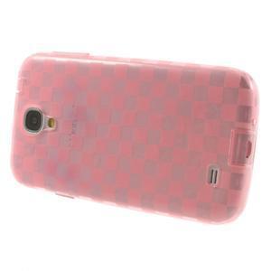 Gelpvé kosočvercové pouzdro na Samsung Galaxy S4 i9500- růžové - 3