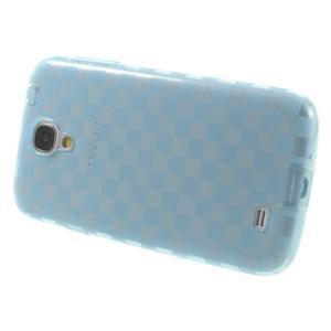 Gelové kosočvercové pouzdro na Samsung Galaxy S4 i9500- modré - 3