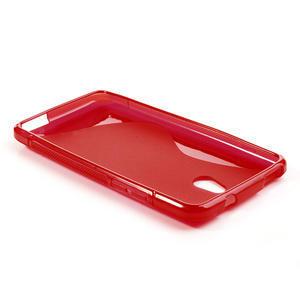 Gelové S-line pouzdro pro HTC one Mini M4- červené - 3