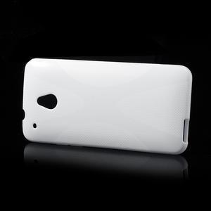 Gelové X-line pouzdro pro HTC one Mini M4- bílé - 3