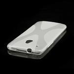 Gelové X-line pouzdro pro HTC one Mini M4- transparentní - 3/4