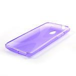 Gelové X-line pouzdro pro HTC one Mini M4- fialové - 3/4